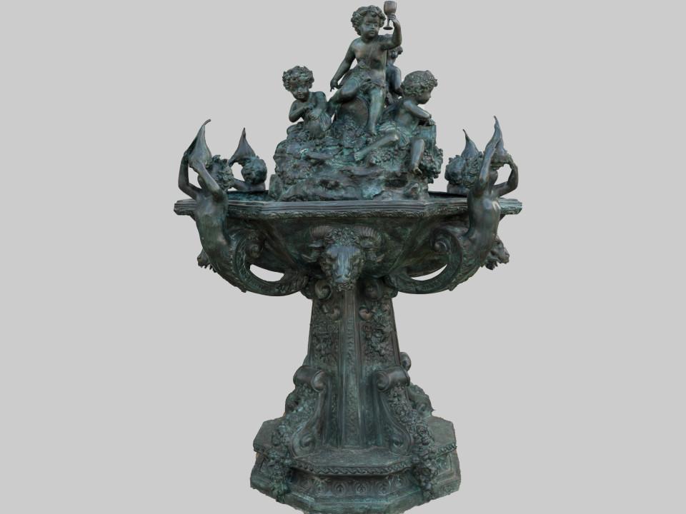 Fontana francese in bronzo